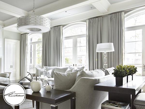 از پرده های سبک و نازک روشن استفاده کنید -روشنایی فضای داخلی