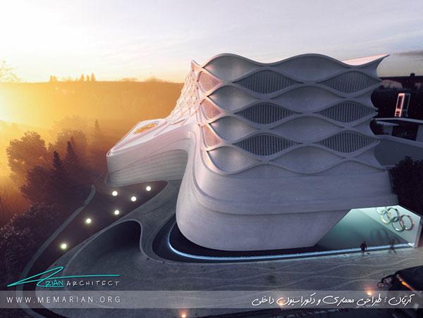 معماری مجتمع ورزشی تفریحی المپیک بابل توسط مهندس آریان - معماری مدرن