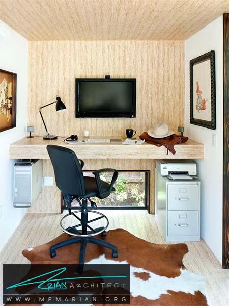 محل مناسب برای سخت افزار و لوازم جانبی -سازماندهی دفتر کار خانگی