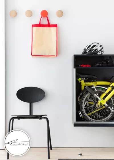 دوچرخه خود و کودکتان را به طور منظم در ورودی خانه تان قرار دهید -سازماندهی ورودی خانه