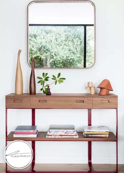 آینه، یکی از ملزومات بسیار کاربردی برایسازماندهی ورودی خانه -سازماندهی ورودی خانه