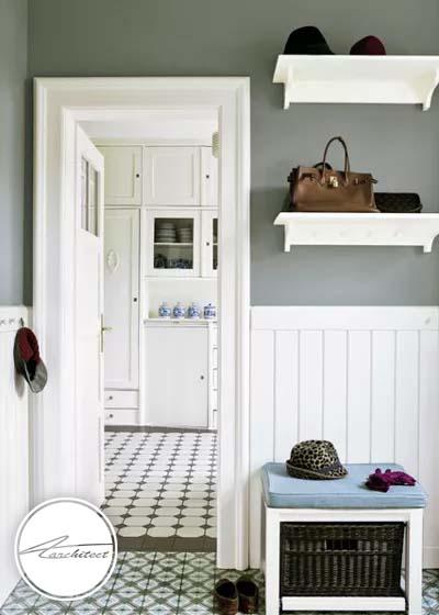 قفسه ها و طاقچه های روی دیوار، به کمک شما می آیند-سازماندهی ورودی خانه