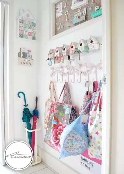 برای نگهداری و جلوگیری از گم شدن کلیدهایتان، فکری کنید -سازماندهی ورودی خانه