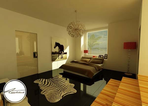 دکوراسیون سیاه و سفید آرامش بخش -اتاق خواب آرامش بخش