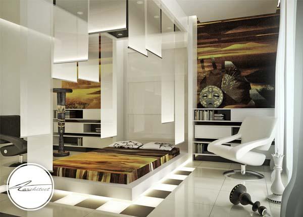 طراحی دکوراسیون داخلی آینده اتاق خواب -اتاق خواب آرامش بخش