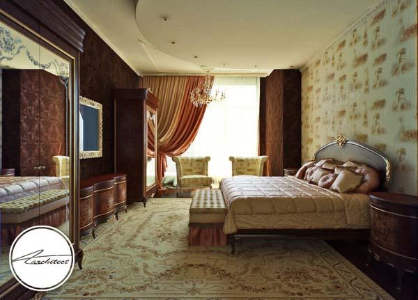 دکوراسیون اتاق خواب کلاسیک -اتاق خواب آرامش بخش