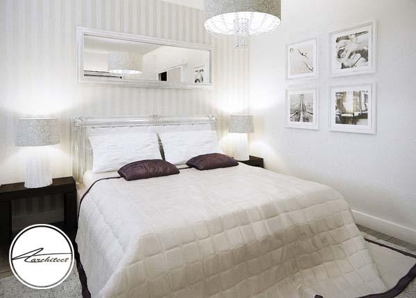 اتاقی با دکور سفید و نورپردازی حرفه ای -اتاق خواب آرامش بخش