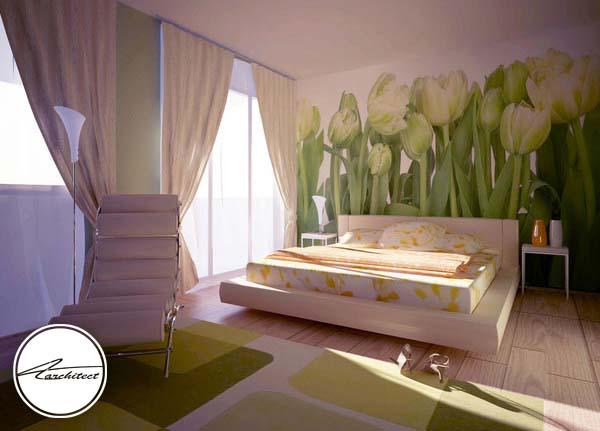 دکوراسیون اتاق خواب زنانه کلاسیک -اتاق خواب آرامش بخش