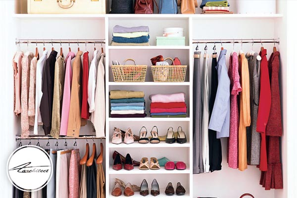 مرتب کردن لباس ها در منزل -آموزش خانه تکانی