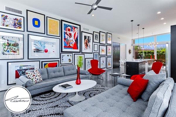 تابلوها و آثار هنری تان را در محل خوبی از دیوار نصب کنید -بهبود دکوراسیون منزل