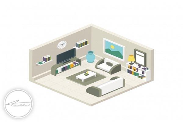 خطوط دید مستقیم را حتما در نظر داشته باشید -بهبود دکوراسیون منزل