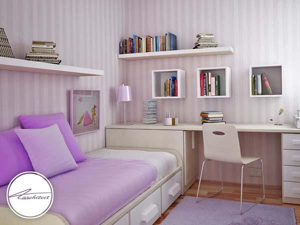 تاثیر شلف و قفسه بندی در اتاق خواب -دکوراسیون داخلی اتاق خواب