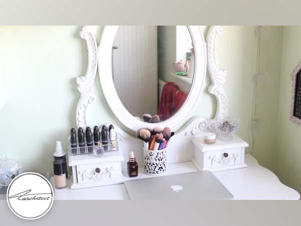 میز آرایش دردکوراسیون داخلی اتاق خواب دختر -دکوراسیون داخلی اتاق خواب
