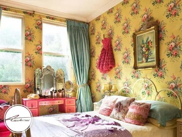بکارگیری کاغذ دیواری در دکوراسیون داخلی اتاق خواب -دکوراسیون داخلی اتاق خواب