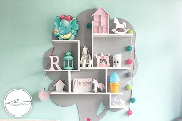 اسباب بازی: تعبیه محلی برای قرار دادن اسباب بازی ها -ملزومات اتاق کودک
