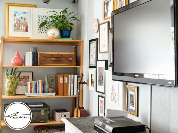دکوراسیون اطراف تلویزیون در خانه های کوچک-دکوراسیون اطراف تلویزیون