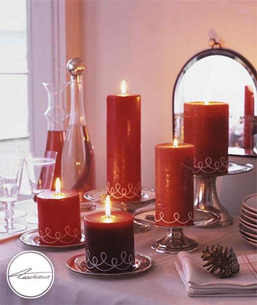 ایده های چیدمان دکوراسیون با شمع