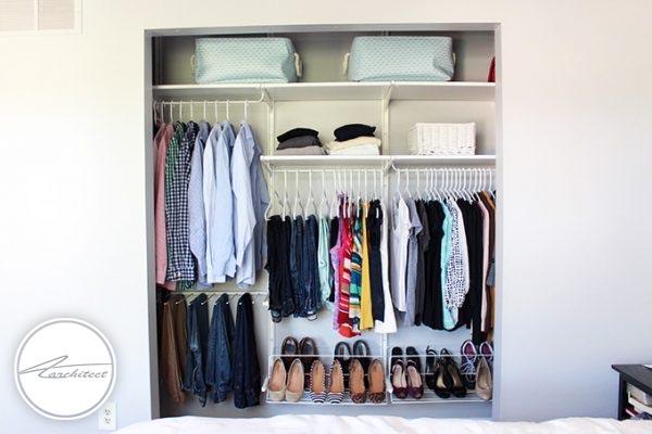 مرتب کردن لباس های مورد استفاده-تمیز کردن خانه
