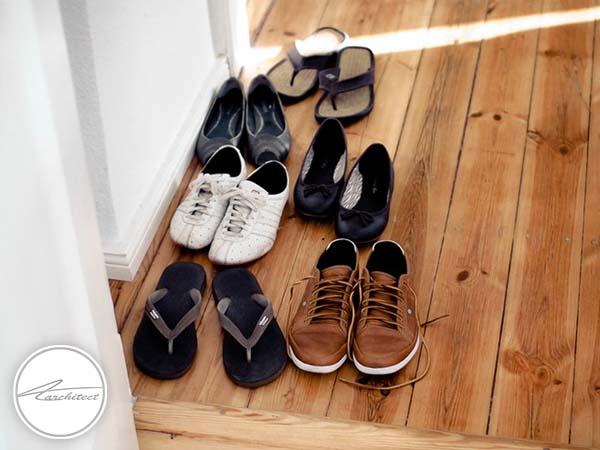 مرتب کردن کفش ها در خانه -بازسازی دکوراسیون داخلی