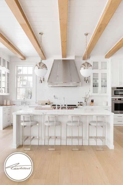 دکوراسیون روشن با نورپردازی صحیح -طرح های آشپزخانه در سال 2019