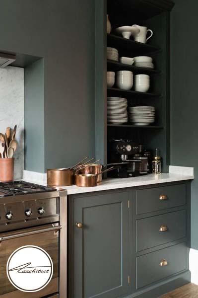 رنگ سبز زیتونی برای آشپزخانه -طرح های آشپزخانه در سال 2019
