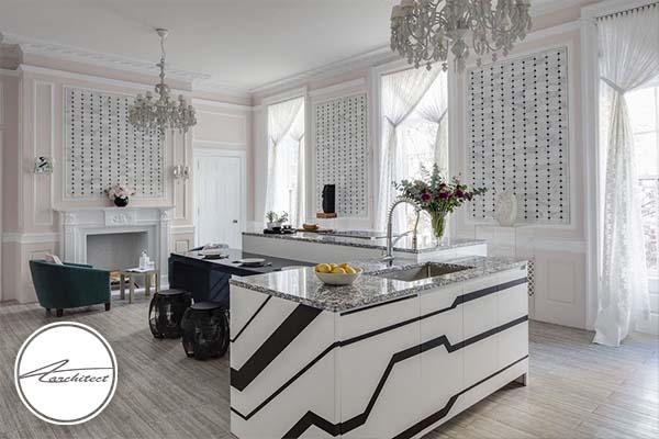 ترکیب سبک های کلاسیک و مدرن -طرح های آشپزخانه در سال 2019