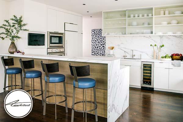 رنگ سفید در طرح های آشپزخانه 2019-طرح های آشپزخانه در سال 2019