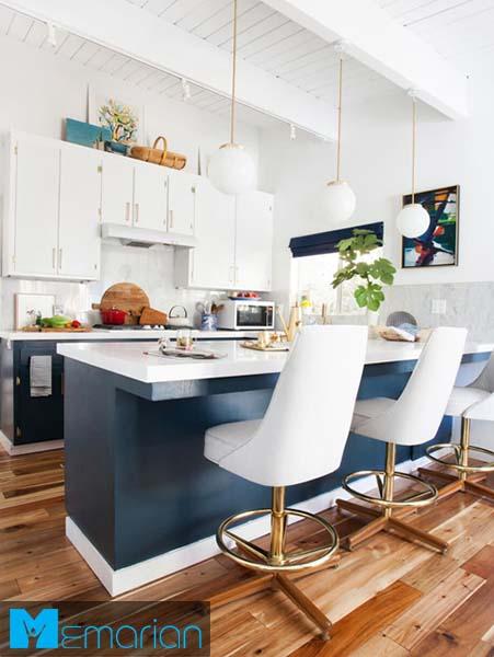 کابینت های سفید و مدرن-کابینت در دکوراسیون آشپزخانه