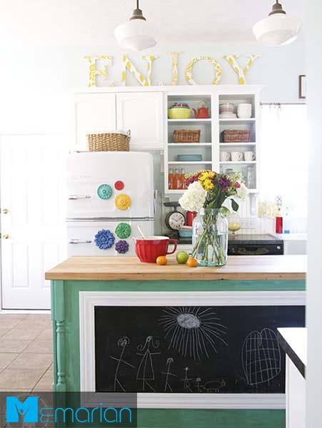 متون جذاب بالای کابینت-کابینت در دکوراسیون آشپزخانه
