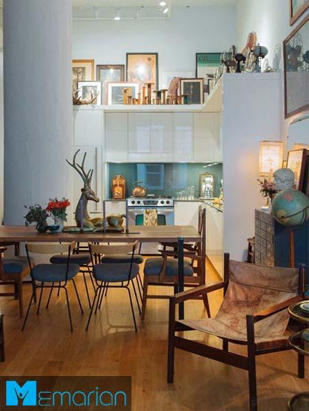 استفاده از فضای بالای کابینت-کابینت در دکوراسیون آشپزخانه