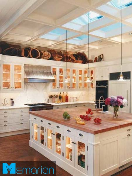 دکوراسیون مدرن آشپزخانه جزیره-کابینت در دکوراسیون آشپزخانه