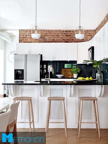 پس زمینه کابینت و دیوار-کابینت در دکوراسیون آشپزخانه