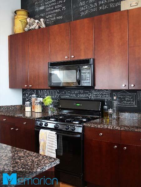 کابینت های ساده و پس زمینه-کابینت در دکوراسیون آشپزخانه