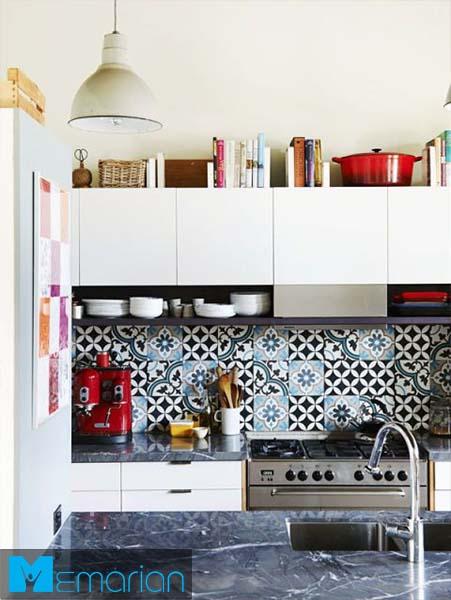 کتابخانه ای در آشپزخانه-کابینت در دکوراسیون آشپزخانه