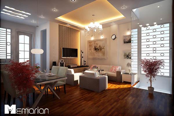 نورپردازی در دکوراسیون داخلی اتاق نشیمن