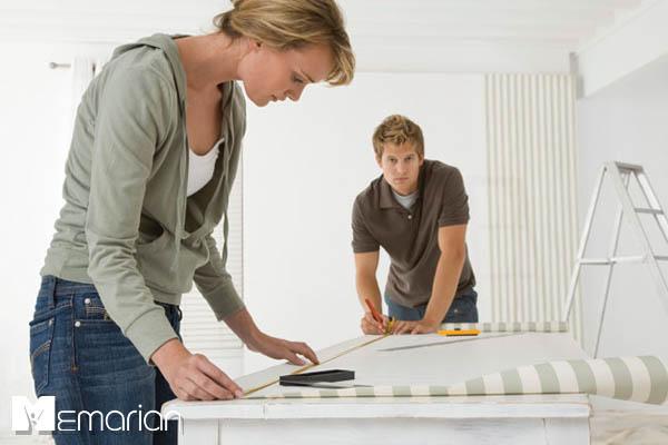 نصب صحیح کاغذ دیواری منزل (2)