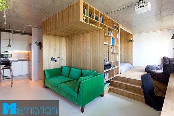 طراحی دکوراسیون داخلیاستودیو آپارتمان (1)