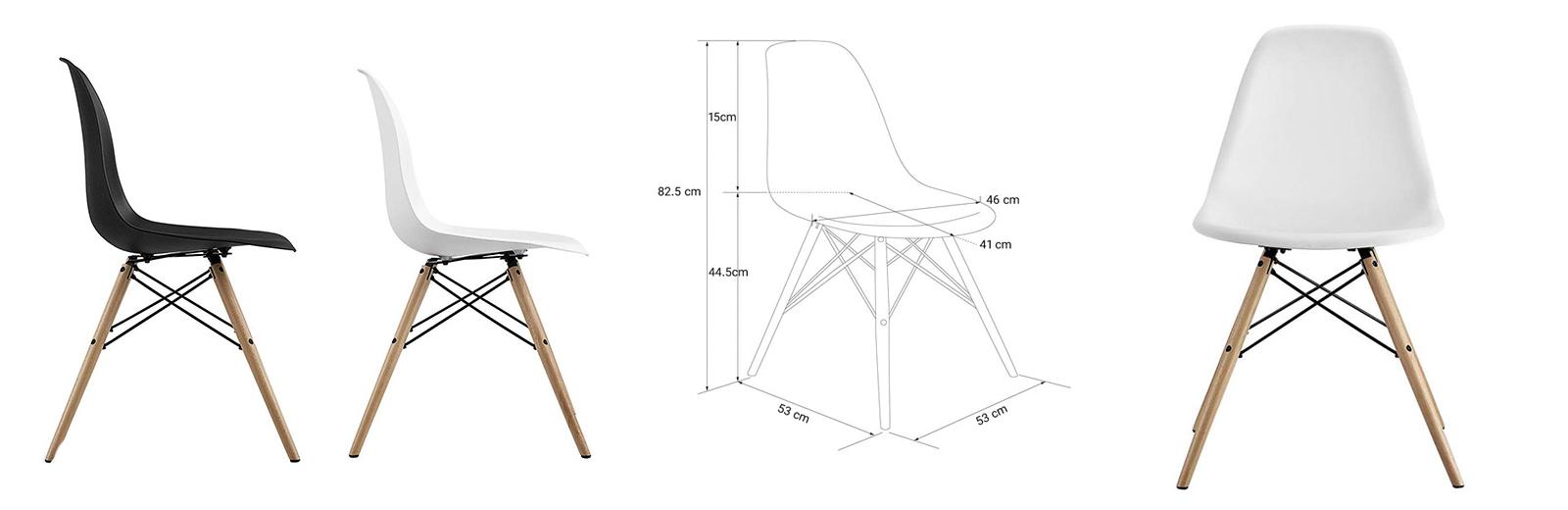 بررسی و خرید صندلی مدرن پلاستیکی مناسب خانه و محل کار