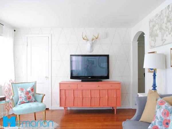 استفاده از رنگ مرجانی در ملزومات خانه