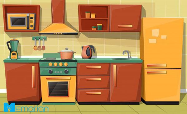 آشپزخانه در خانه تکانی