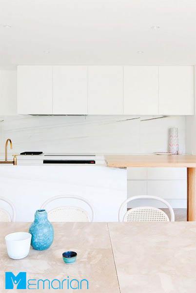 استفاده از سنگ مرمر صورتی در آشپزخانه