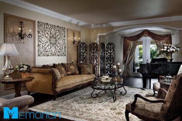 بهترین ست رنگ های مبل و فرش و پرده در دکوراسیون داخلی