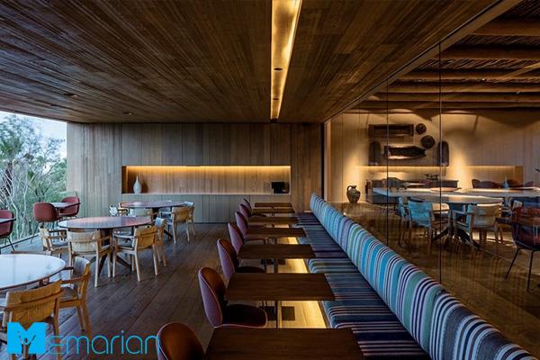 ترکیب سبک سنتی و مدرن در طراحی داخلی رستوران مکزیکی