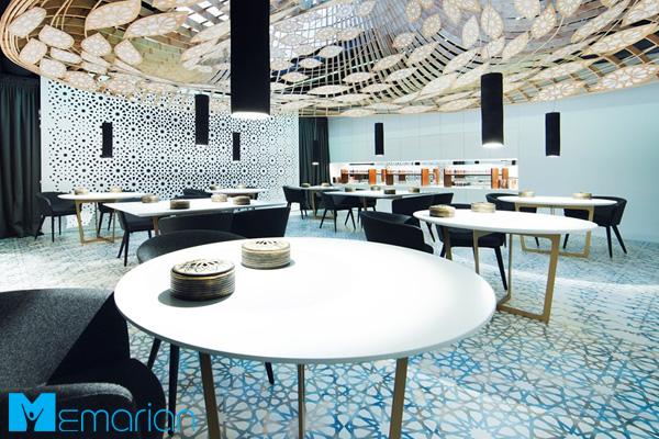 نمای داخلی رستوران اسلامی مدرن