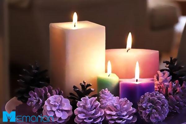 فضارا با شمع عاشقانه تر کنید - تغییر دکوراسیون ارزان