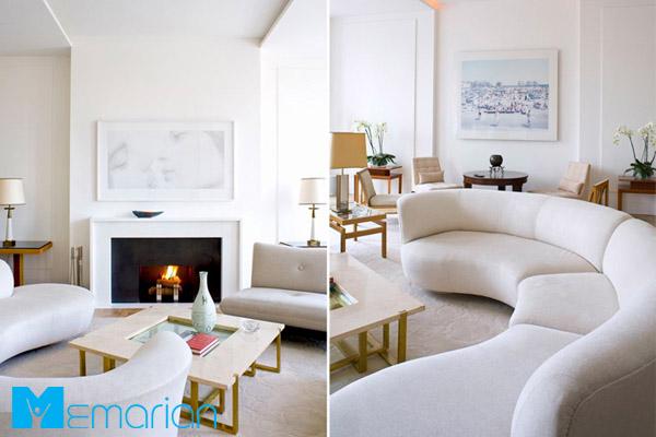 رنگ های روشن در فضای داخلی خانه - دکوراسیون فضای بدون پنجره