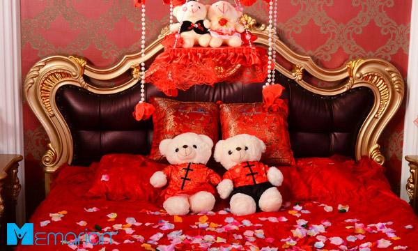ایده رمانتیک و عاشقانه اتاق خواب عروس