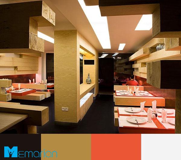 ترکیب رنگ های گرم برای رستوران