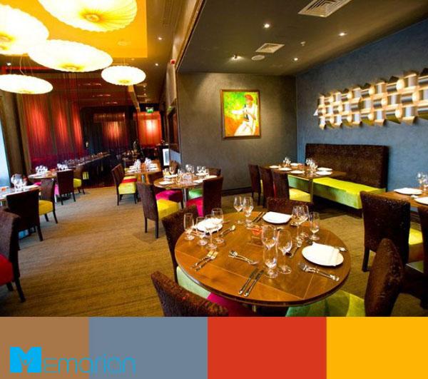 ترکیب رنگ های گرم برای دکوراسیون رستوران