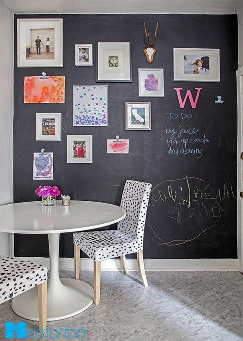 پوشاندن دیوار اتاق به کمک تخته سیاه